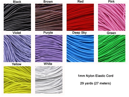 Colored Elastic Cords