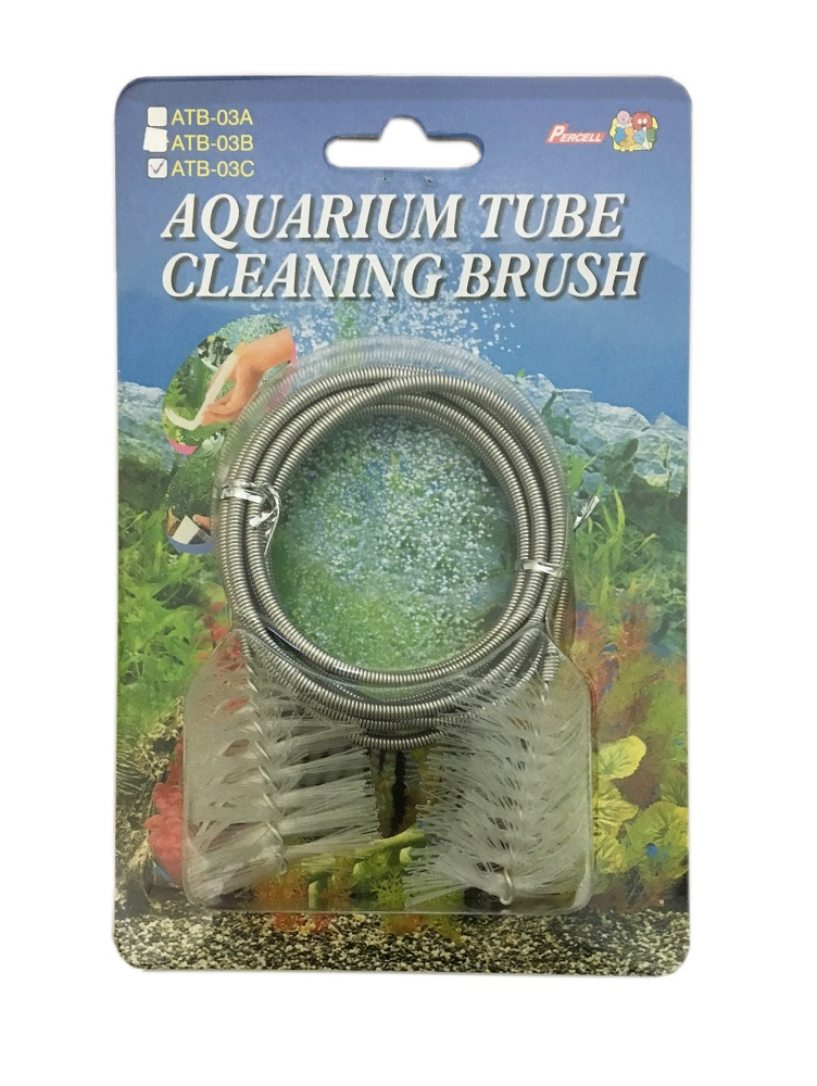Dual-Head Spring Aquarium Tube Brush