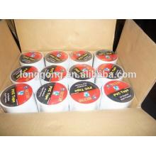 Cinta del aislamiento de la pipa del PVC Gas (polivinilo suave Choride (SPVC) y adhesivo de goma)