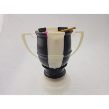 Voetbalmuziek Flower Candle White & Black