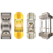 Sicher elevador panorámico de vidrio de 1600 kg