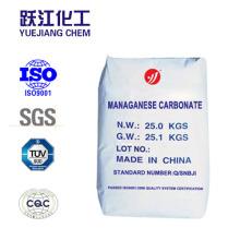China fabricante de suministro de alta pureza de carbonato de manganeso
