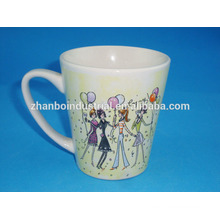 Gift mug porcelain girl mug with beautiful design