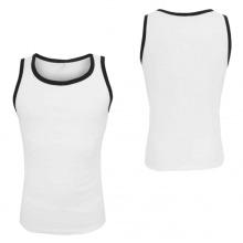 Camisola de alças por atacado de compressão branca PRO para homens