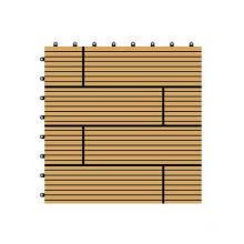 300 * 300 * 22mm Décoratifs WPC DIY Carrelage, bois en plastique Composite Decking