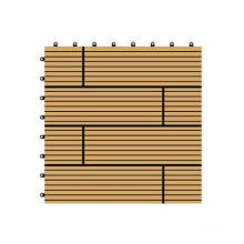 300*300*22mm Waterproof High Quality DIY Composite Decking Tiles, WPC Interlocking Tiles