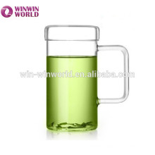 Promotional Gift Tableware Mouth Blown Pyrex Borosilicate Mug Glass