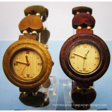 Hlw077 OEM Men′s and Women′s Wooden Watch Bamboo Watch High Quality Wrist Watch