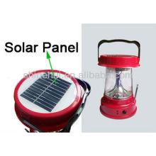 Plastic ABS/Transparent PC ultra bright led lantern camping solar energy lantern