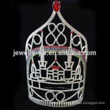 Hot selling large tall rhinestone wedding tiara fashion bride crown