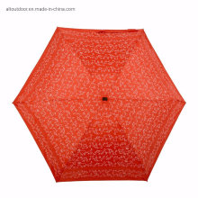 Super Mini Pocket Aluminum Shaft Umbrella 19inch 6K 190t Pongee 5 Fold Personalized Umbrella with Print Logo