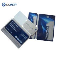 Custom Combo PVC Card com três pequenas etiquetas de plástico