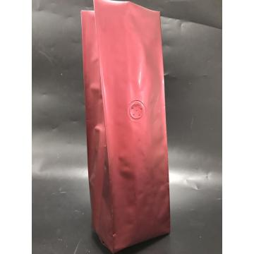 Matte Red Side Gusset Coffee Bag