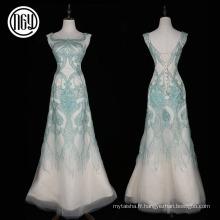 Robes de soirée élégantes longues alibaba de femmes de handwork haut de gamme