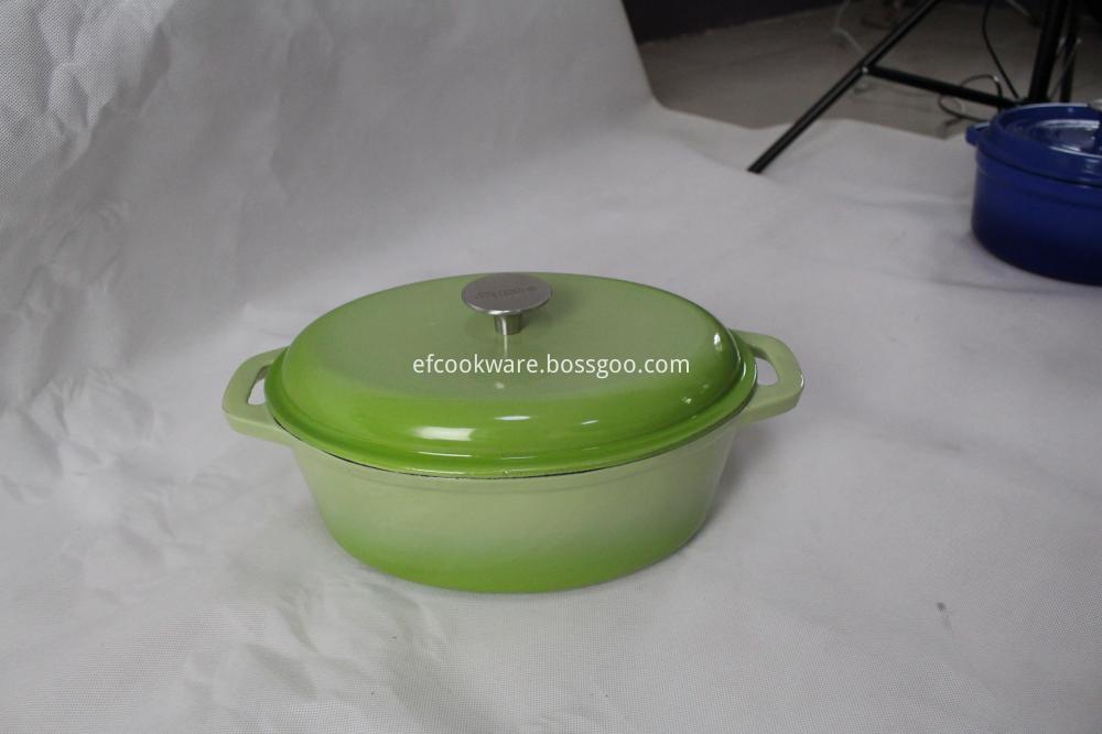 Oval Cast Iron Pot
