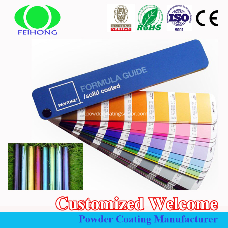 Colorful Chrome mirror effect powder coating