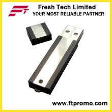 Metall-Block USB-Flash-Laufwerk mit Seite Farbe Korn (D302)