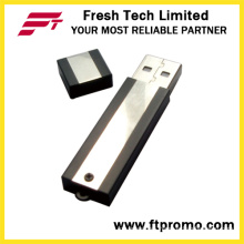 Metal Block USB Flash Drive with Side Color Grain (D302)