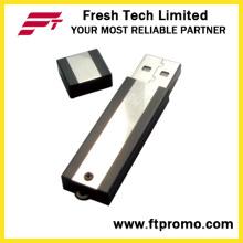 Metal Block USB Flash Drive avec grain de couleur latérale (D302)