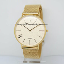 2017 Hot Sale Top Marca Ladies Gold Watch Stainless Steel Back Custom Watches
