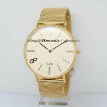 2017 Relojes de pulsera de encargo de la parte superior del reloj de oro de las señoras de la marca de fábrica superior de la venta