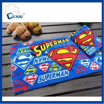 100% Cotton Yarn Children Face Towel Superman Towel