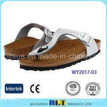 Weiße Schuhe Kork Materialien USA Style Hausschuhe
