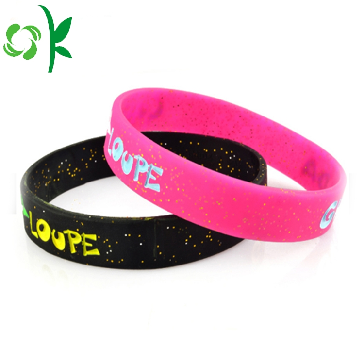 Christma Gift Silicone Engraved Wristbands