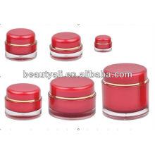 5 мл 15мл 20мл 30мл 50мл 100мл 200мл круглый красный косметический акриловый контейнер