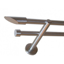 28*0.7 mm Blackmodern Deluxe Curtain Rods For Home Decorative