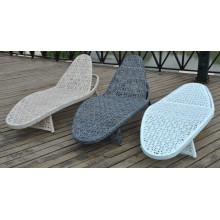 Outdoor Modern Chaise Mesh Lounge Rattan