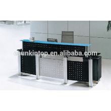 Reception glass desk for office used, Foshan office furniture manufacturer, Sell office furniture (P8001)