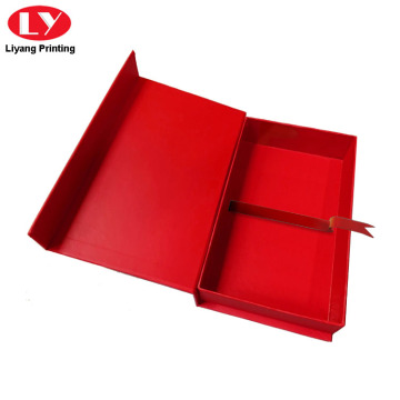 Red Fancy Texture Tông Magnetic Jewelry Box Bao bì