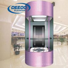 Ascenseur d'observation touristique élégant