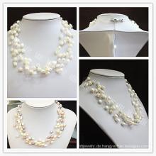 Multi Strands Fashion Star Süßwasser Perle Halskette