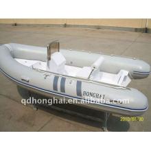 barco de fibra de vidrio rígida rib430 de ce con motor 50hp