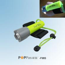 120lumens CREE XP-E R2 Lanterna profissional do mergulho do diodo emissor de luz (POPPAS-F98S)