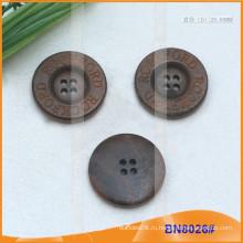 Естественные деревянные кнопки для одежды BN8026