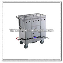 S103 4-Tank Gas Stainless Steel Kitchen Trolley