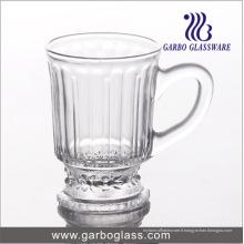 Coupe de thé en verre gravé de 4 oz