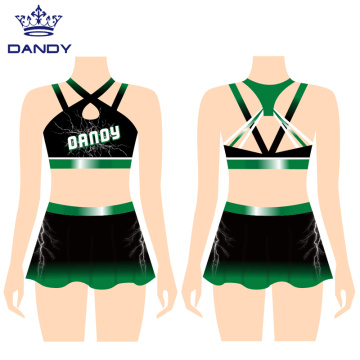 Custom Cropped Cheerleading Uniform