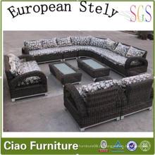 Европейский дом мебель из ротанга гостиной секционный диван (CF1242)