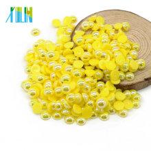 Yiwu Hot Sale Flatback Halbe Runde Nagel Lose Perlen Perlen für Handwerk, A9-CitrineAB