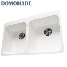 Твердая поверхностная акриловая смола/композитный гранит/акрил кварц используется фартук передний кухонные мойки раковины
