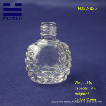 2015 year unique shaped custom glass nail polish bottle for sale