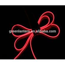 110V / 220V Cool Blanc / Rouge / Bleu / Vert Flexible LED Néon Corde Lumière pour Intérieur Intérieur Vacances Valentine Décoration Éclairage