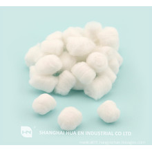 disposable medical white cotton balls in china