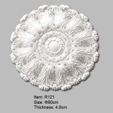 Medalhões de teto de folhas estilizadas de Acanthus