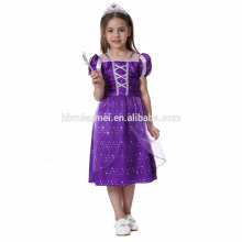 2017 nouveau design bébé fille princesse robe bébé fille cosplay princesse robe robe de conception