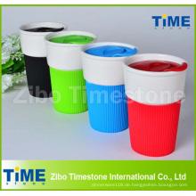 Kunststoffdeckel Keramik Kaffeetasse ohne Griff